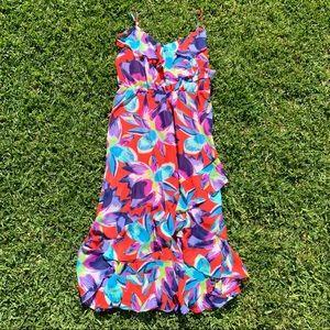 Vibrant Ruffle Floral Dress by Sofia Veragara 💛